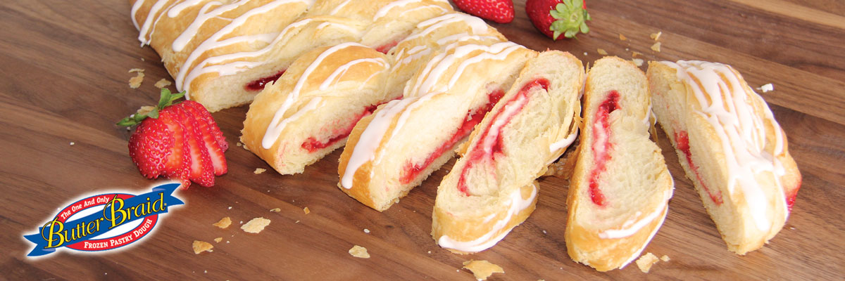 Strawberry Cream Cheese Butter Braid